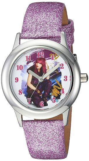 Disney - Reloj de cuarzo para chicas Los Descendientes 2, con diseño informal, de