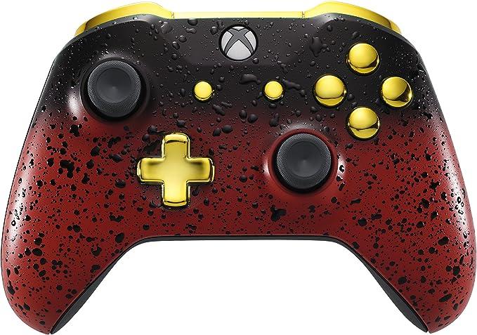 Xbox One Controller - 3D Red Shadow & Gold (xbox_one) [Importación inglesa]: Amazon.es: Videojuegos