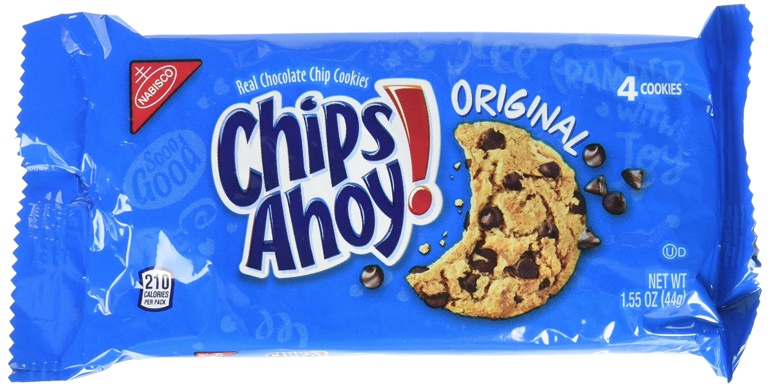 Chips Ahoy! Original Chocolate Chip Cookies - Snack Packs, 12 Count Box, 18.6 Ounce (Pack of 4)