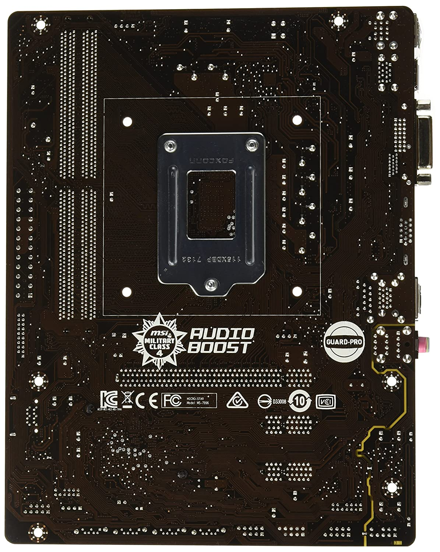 H110M PRO-VD Plus MSI Computer Intel H110 LGA 1151 DDR4 USB 3.1 Micro ATX Motherboard