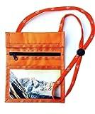sunwallet orange Brustbeutel Brustsafe Brusttasche Umhängetasche Outdoor Ausweistasche