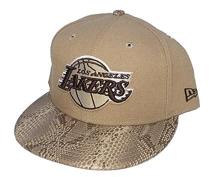 c7f6b0417e272 Los Angeles Lakers New Era - Gorra de Piel de Serpiente con Patrón de  factura (