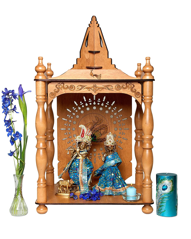 amazon com large home temple pooja mandir altar cherry