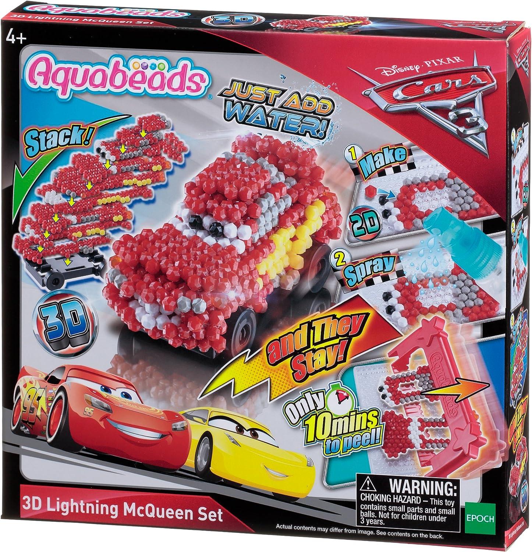 Aquabeads- Set Cars 3 3D Lightning Mcqueen, Multicolor (Epoch para Imaginar 30198): Amazon.es: Juguetes y juegos