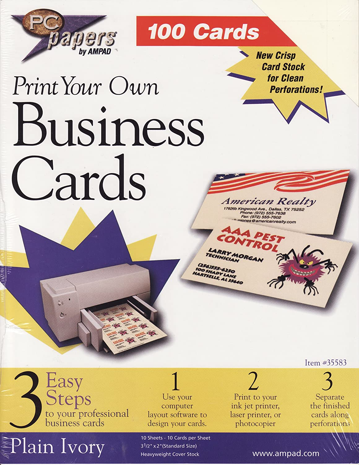 Print Your Own Business Cards By Ampad Amazon Office Products