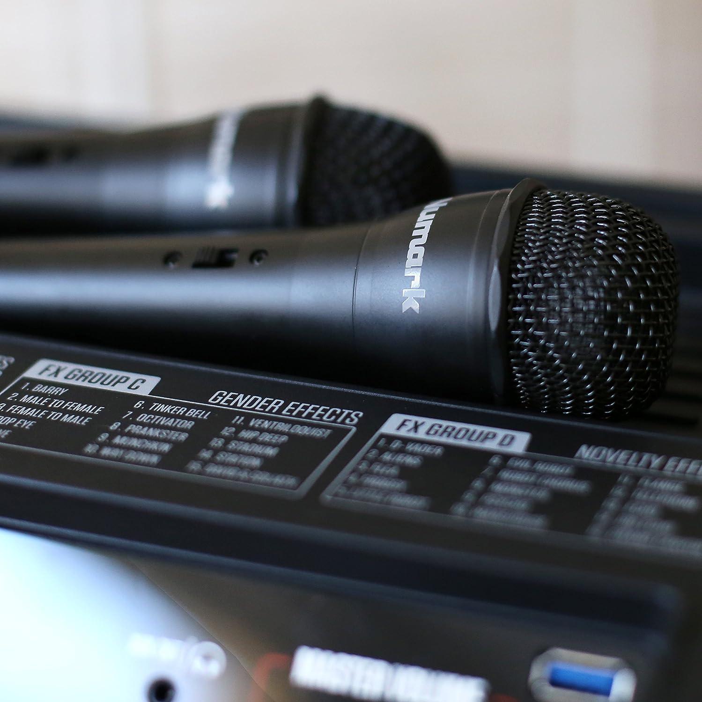 Numark Sing Master Cassa Bluetooth da 50 W e Sistema Karaoke con 60 Effetti Vocali Microfono e Altoparlanti con LED Colorate Amazon Strumenti musicali