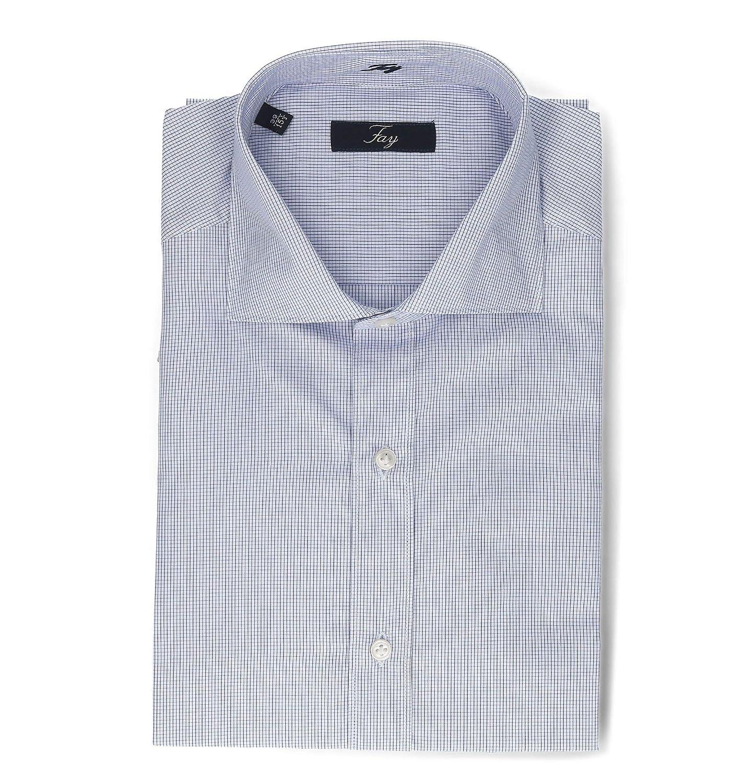 Spring Summer 19 fay Luxury Fashion Mens NCMA1372590C52U601 Light Blue Shirt