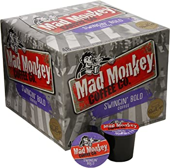 48-Count Mad Monkey Coffee Capsules (Swingin Bold)