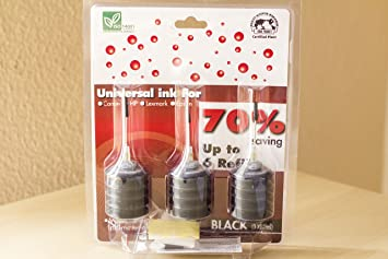 ☆ 3 x 25 ml Kit de Recarga de Tinta para Cartuchos de Impresoras ...