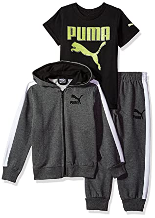 3a30c4e3c99d Amazon.com  PUMA Boys  Three Piece Hoodie and Tee Set  Clothing