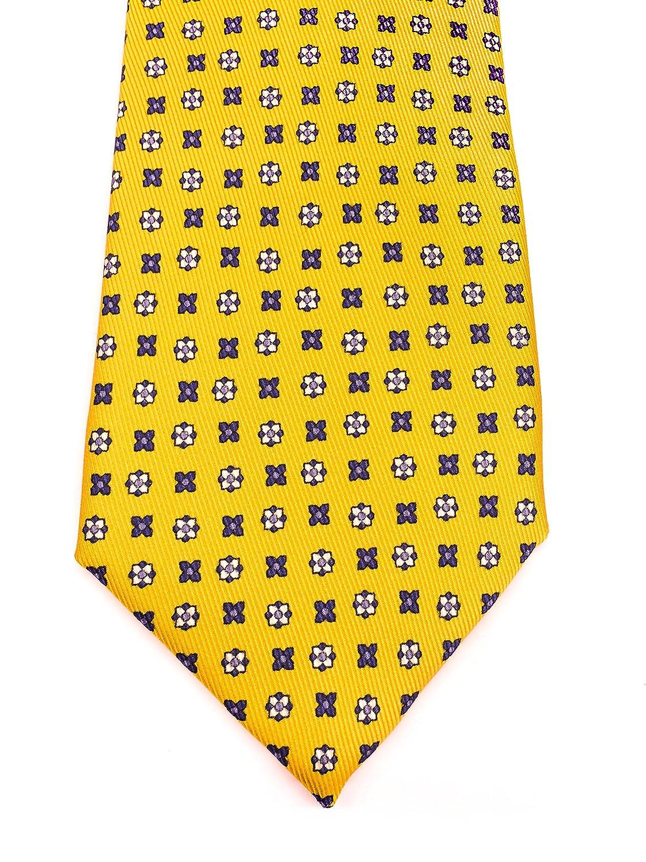 Real Luxury Napoli Corbata de seda de 7 pliegues forrada, diseño ...