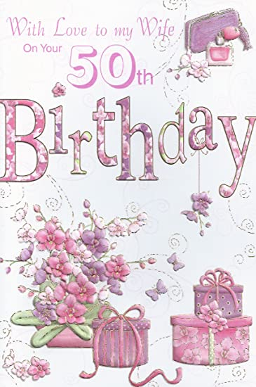 Amazon With Love To My Wife On Your 50th Birthday Card Health
