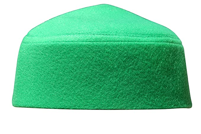 Amazon.com  Solid Green Moroccan Fez-style Kufi Hat Cap w  Pointed Top   Clothing f77e1c38b7db