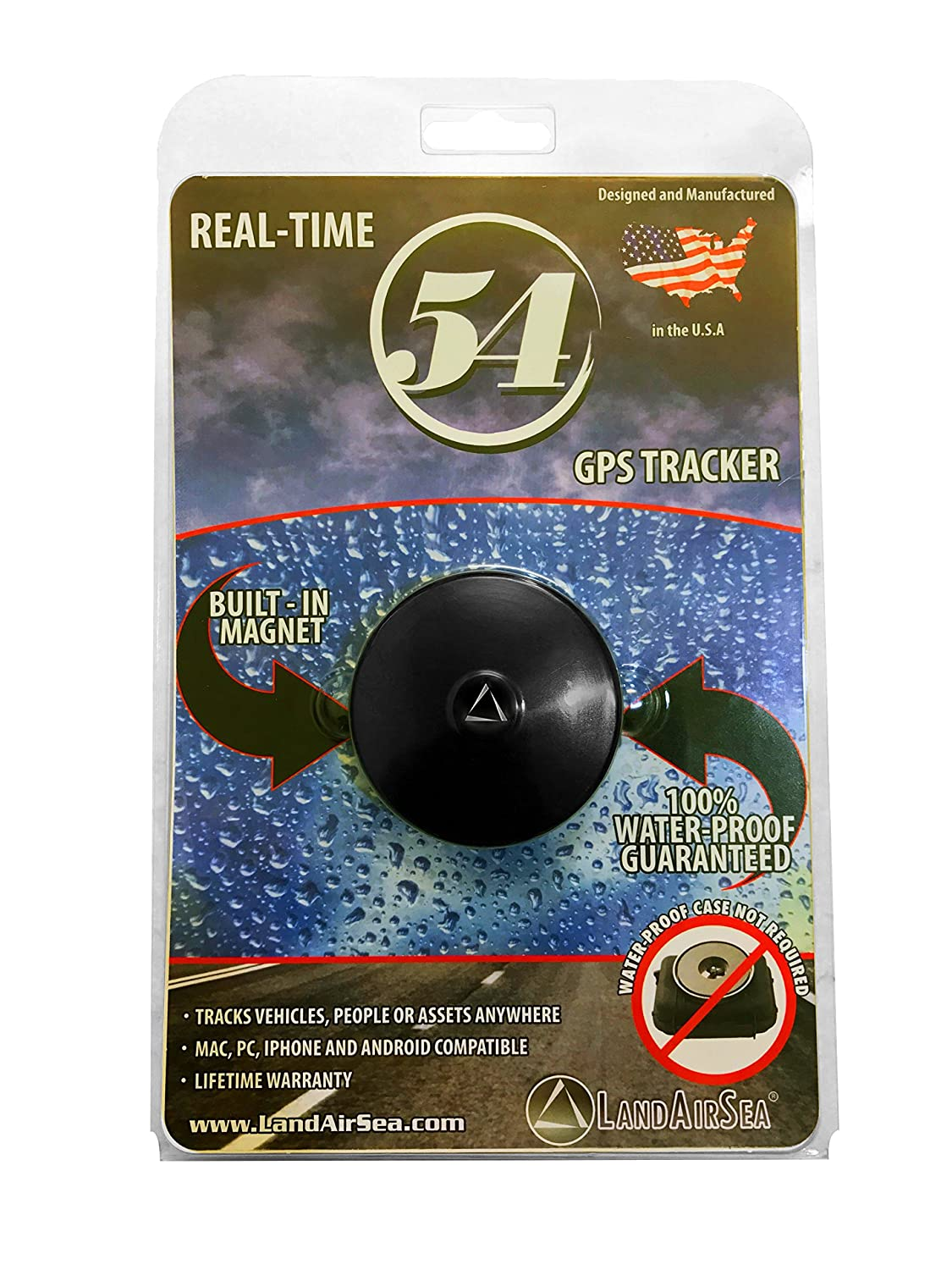 LandAirSea 54 Waterproof Magnet Mount Real Time 4G LTE GPS Tracker for Vehicle, Personal and Asset Tracking