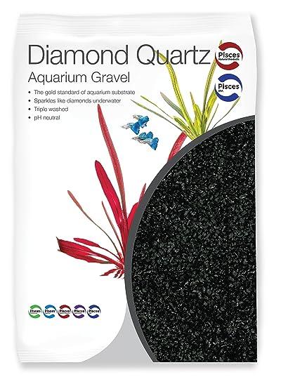 Pisces 11 lb Diamond Black Quartz Aquarium Gravel