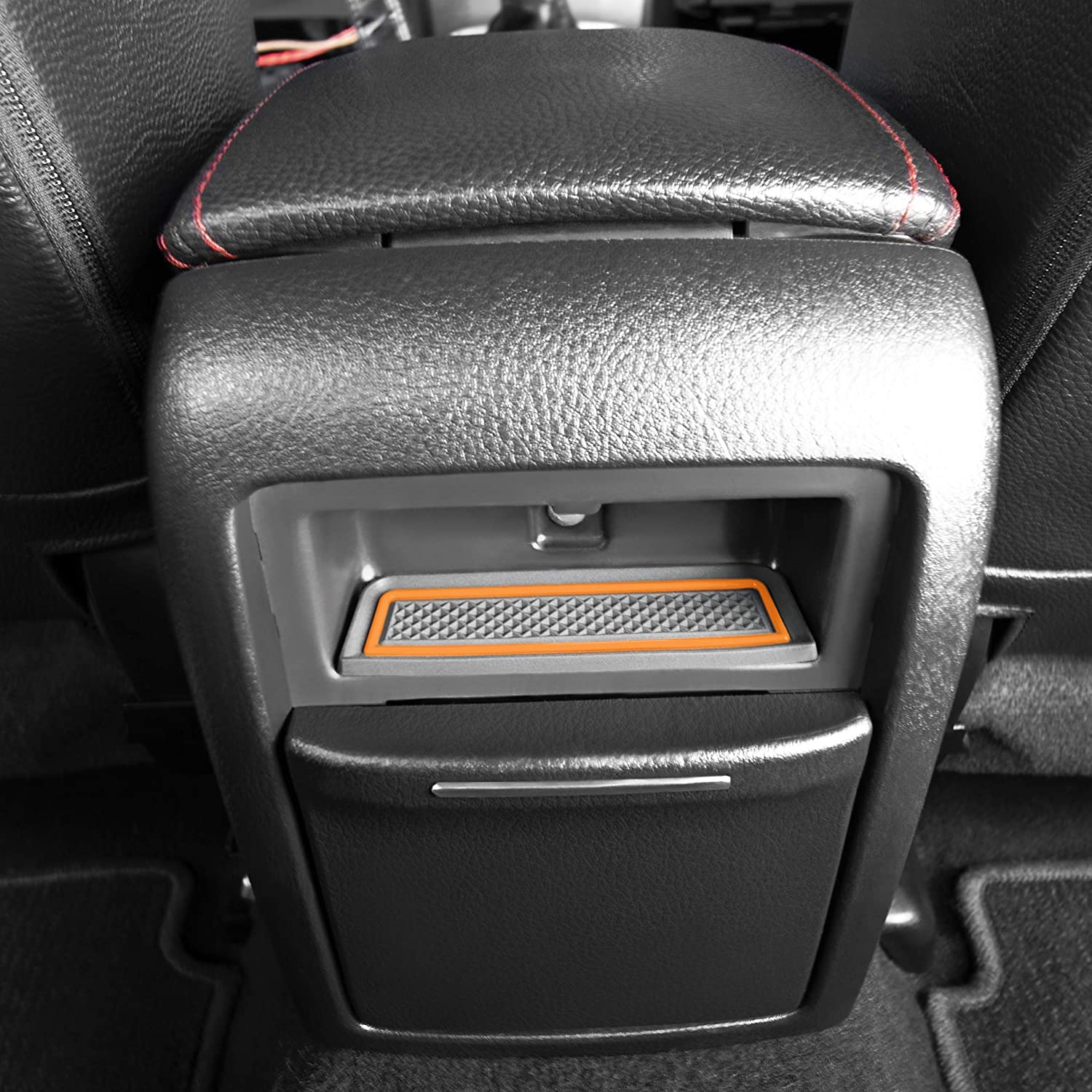 Red Custom Fit Cup and Console Liner Accessories for 2008-2014 Subaru Impreza WRX STI Door