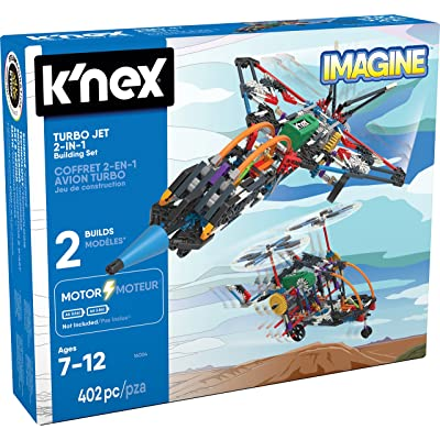 K'NEX – Turbo Jet – 2-in-1 Building Set – 402 Pieces – Ages 7+ – Engineering Educational Toy: Toys & Games