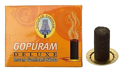 GOPURAM Bamboo Deluxe Incense Sambrani Sticks (22 cm, 874 g, Black, Pack of  24)