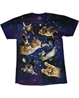 Ninja Kitty Cats Flying in Space T-Shirt