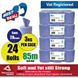 24 Pack 2Ply 85metres Per Roll Embossed Elite Centrefeed/ Kitchen Roll