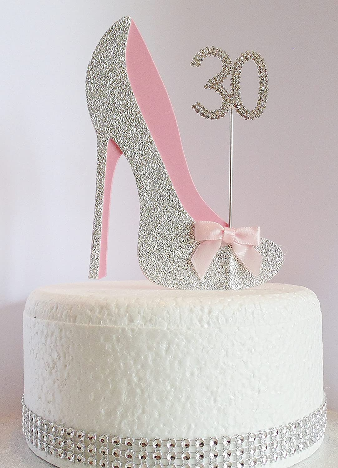 Terrific 30Th Birthday Cake Decoration Shoe With Diamante Number Non Personalised Birthday Cards Paralily Jamesorg