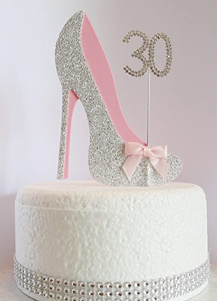 Marvelous 30Th Birthday Cake Decoration Shoe With Diamante Number Non Funny Birthday Cards Online Inifodamsfinfo