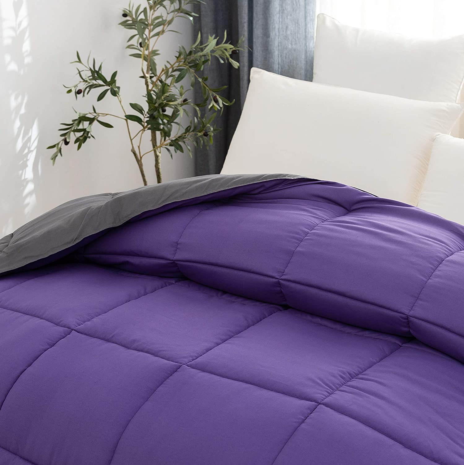 Bedding Home & Kitchen AYASW Microfiber Comforter Queen Size for ...