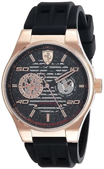 Scuderia Ferrari Reloj Análogo clásico para Hombre de Cuarzo con Correa en Silicona 830458