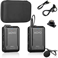 Movo WMX-1 2.4GHz Wireless Lavalier Microphone System Compatible with DSLR Cameras, Camcorders, iPhone, Android…