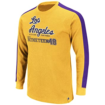 Majestic NBA Los Angeles Lakers Crush Hora Manga Larga Cuello Redondo Camiseta térmica, Hombre, Los Angeles Lakers: Amazon.es: Deportes y aire libre