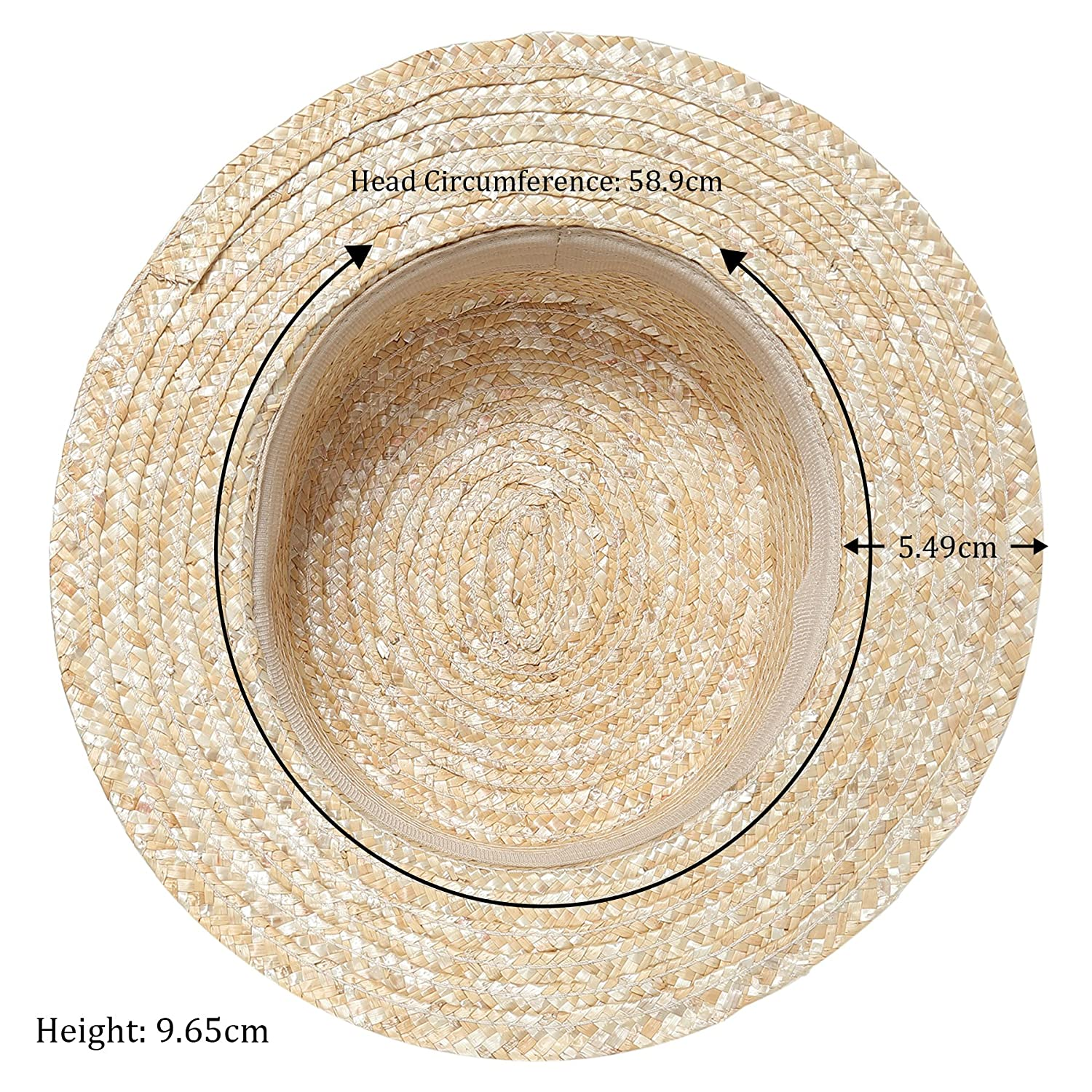53313d23138451 ArtiDeco Straw Boater Hat Mens 1920s Mens Gatsby Hat Panama Straw Sun Hats  Men Roaring 20s Costume Accesories for Men: Amazon.co.uk: Clothing