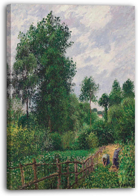 Printed Paintings Impresión Sobre Lienzo (60x80cm): Camille Pissarro - Paisaje con álamos, Clima
