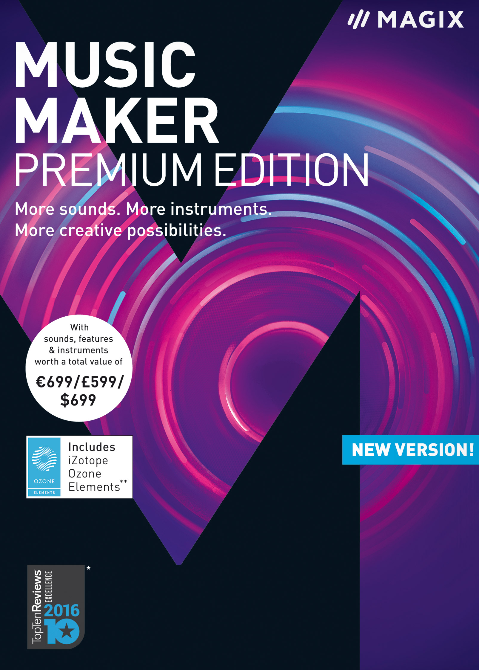 MAGIX Music Maker – 2018 Premium Edition – The audio software with more sounds, instruments and creative options (Option Digital Mixer)