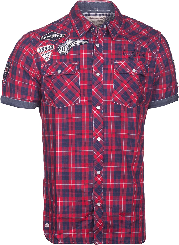 Goodyear Camisa Oklahoma Men Slim Fit Camiseta 1/2 SL ...