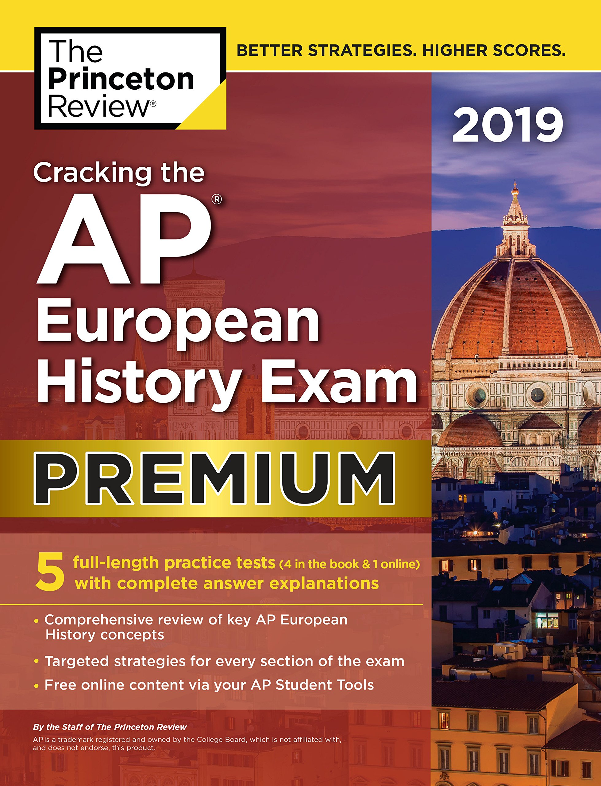 Amazon.com: Cracking the AP European History Exam 2019, Premium Edition: 5  Practice Tests + Complete Content Review (College Test Preparation) ...