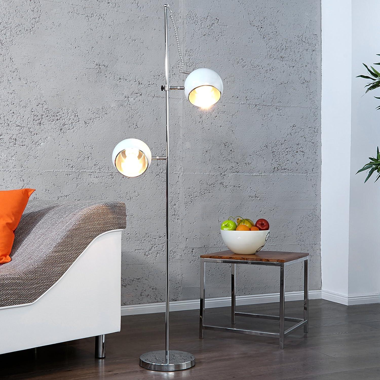Stylische Retro Stehlampe BUBBLE weiss: Amazon.de: Küche & Haushalt