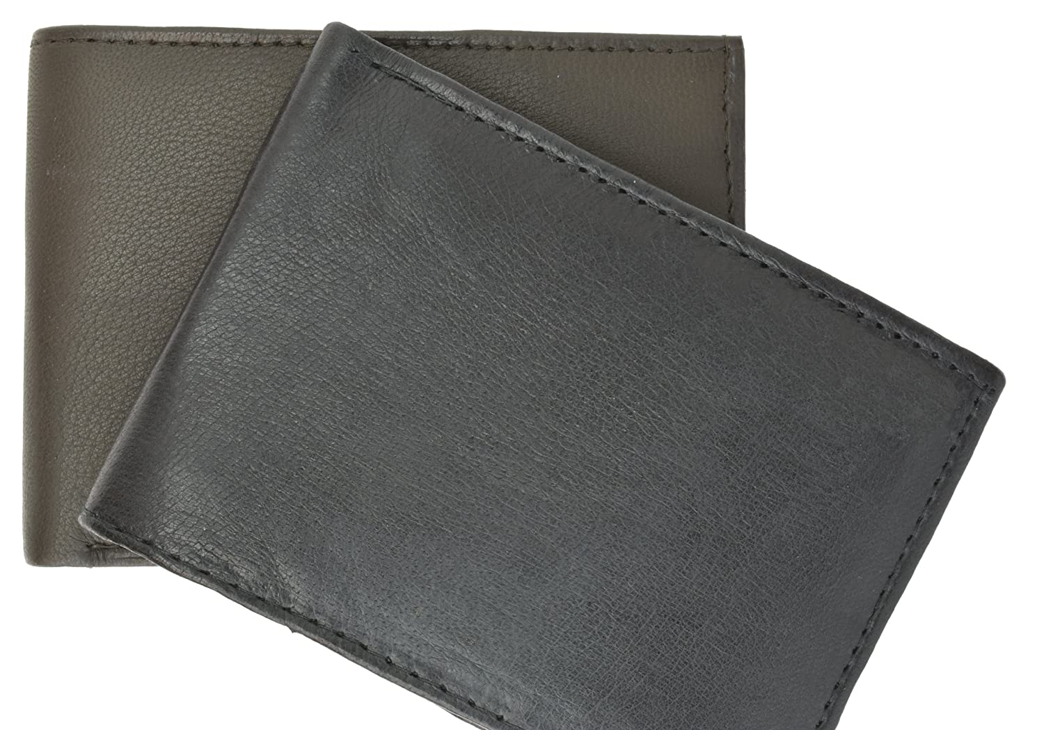 Genuine Lambskin Soft Leather Bifold Credit Card Wallet with Flap by Marshal