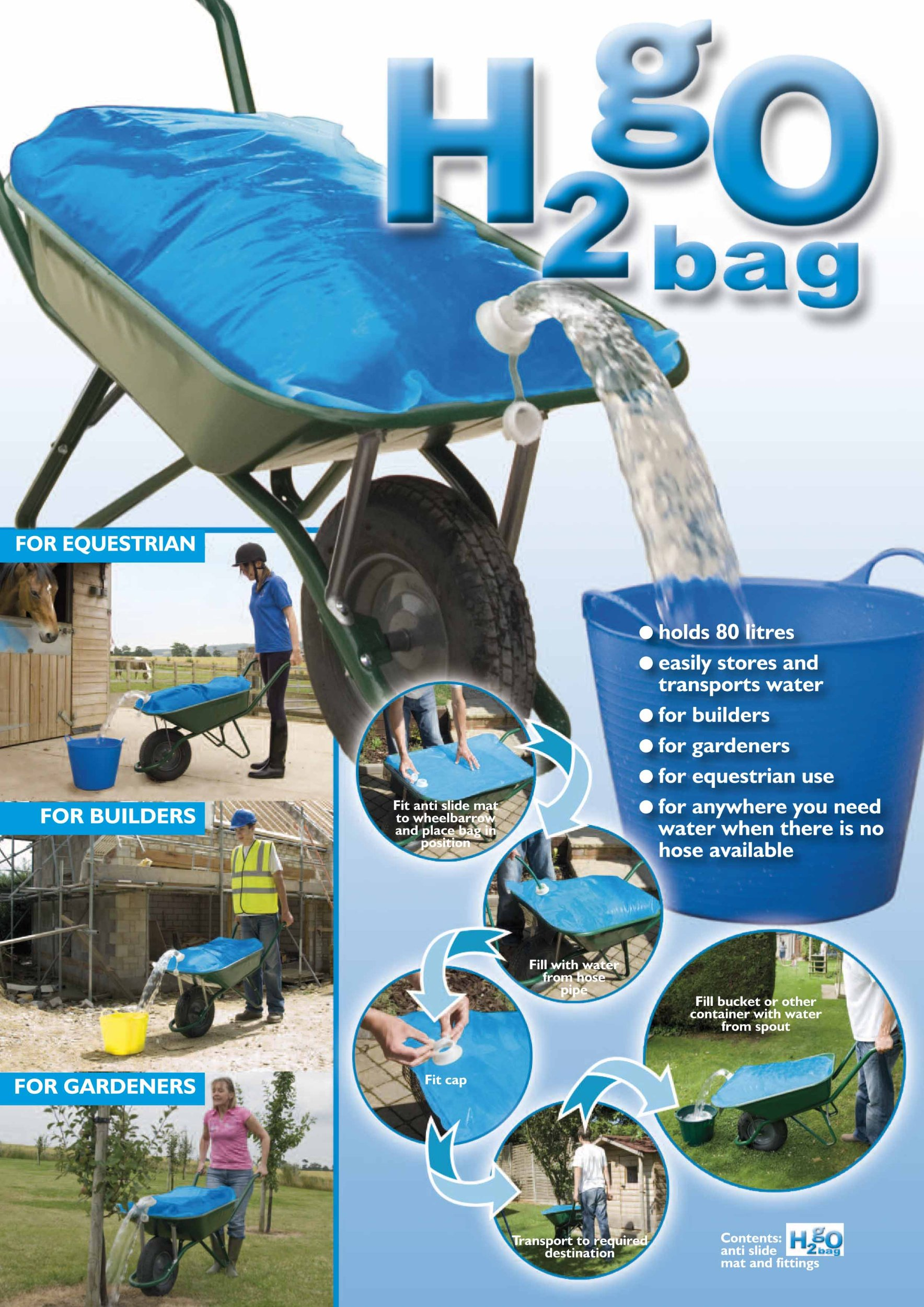 Wheelbarrow Water Bag H2GO - 20 Gallon