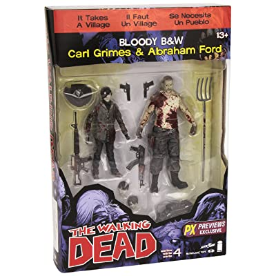 The Walking Dead Comic Series 4 Carl Grimes and Abraham Ford Action Figure 2-Pack - Previews Exclusive: Toys & Games