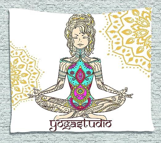 Chakra Decor Tapestry por Ambesonne, espiritual niña en ...