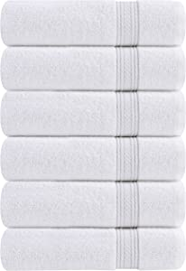 Utopia Towels Premium White Hand Towels - 100% Combed Ring Spun Cotton, Ultra Soft and Highly Absorbent, 700 GSM Exrta Large Thick Hand Towels 16 x 28 inches, Hotel & Spa Quality Hand Towels (6-Pack)
