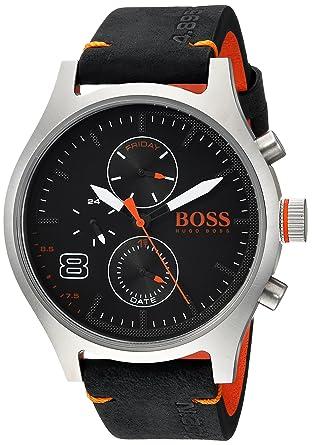 f593d9f34cab Amazon.com  HUGO BOSS Men s Amsterdam Stainless Steel Quartz Watch ...