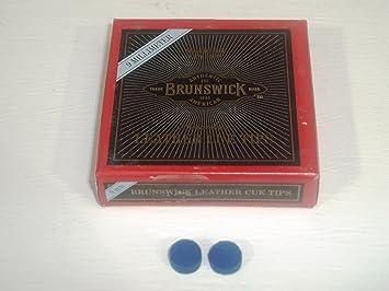 BLUE DIAMOND FROM BRUNSWICK 9mm SNOOKER POOL CUE TIPS x 2**