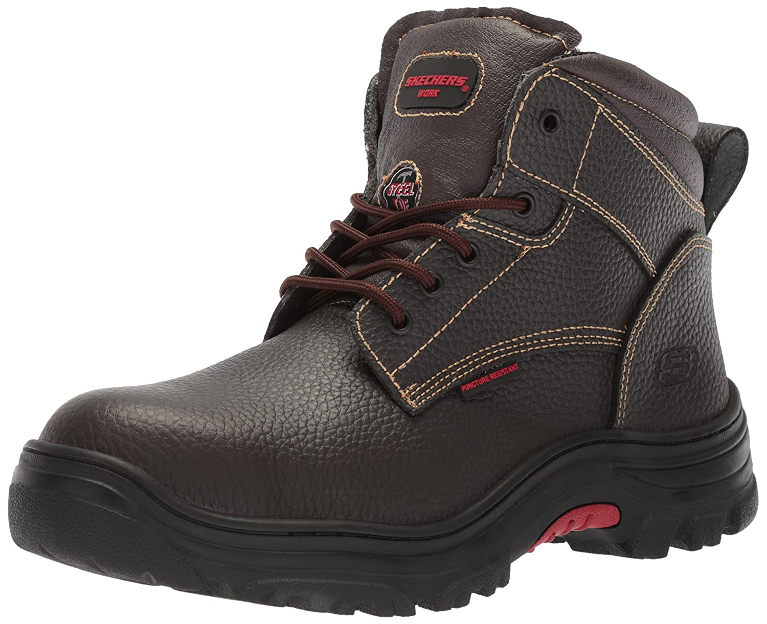 Skechers for Work メンズ Burgin-Tarlac Brown Embossed Leather 8.5 D(M) US 8.5 D(M) USBrown Embossed Leather B073WHP6C6