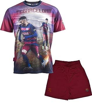 Conjunto camiseta + Short FC Barcelona - Neymar Jr - Colección oficial FC  Barcelona - Talla infantil  Amazon.es  Deportes y aire libre 06e01bb1b27d0