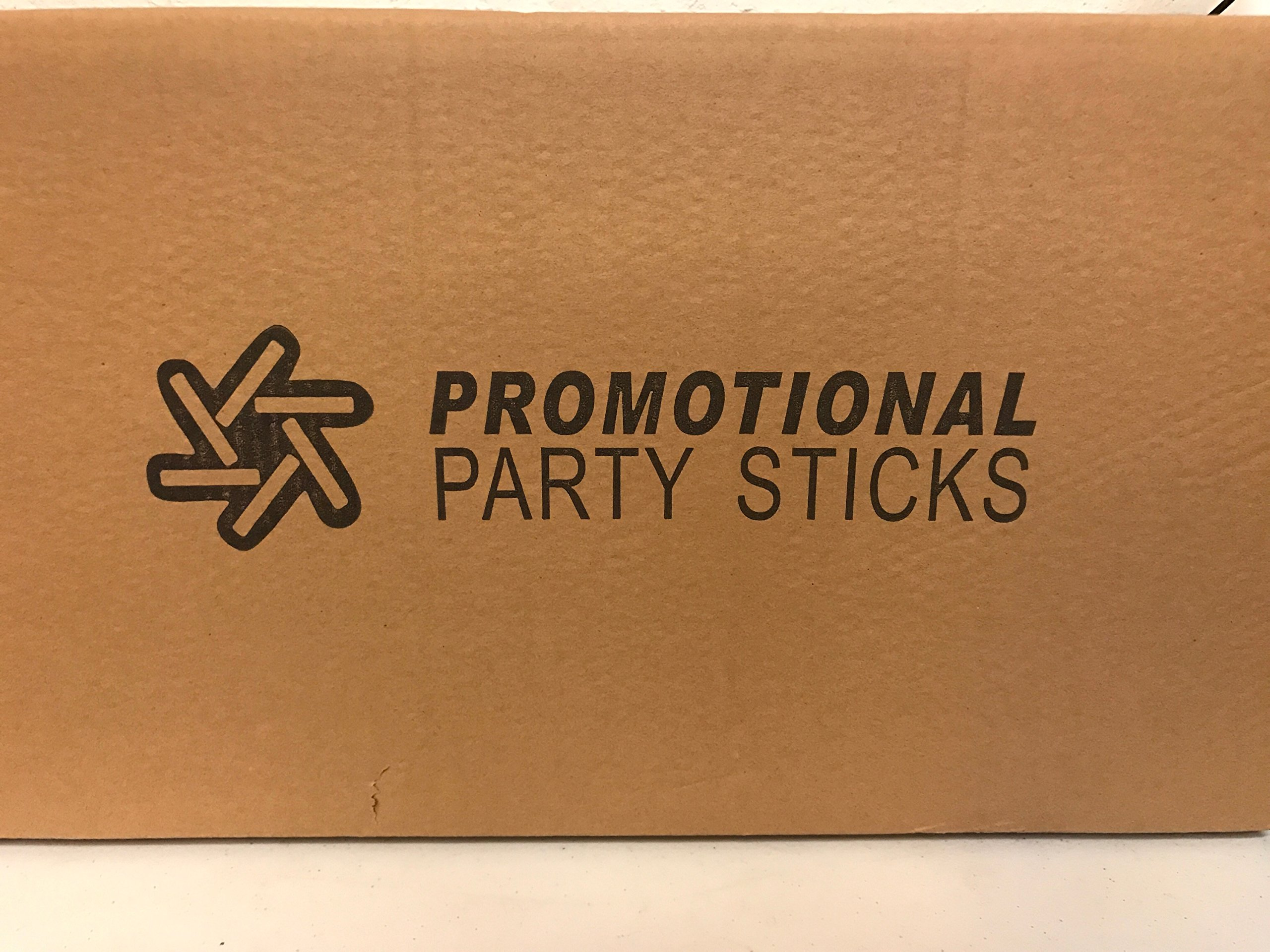 100 Pack - Multicolor LED Foam Sticks Glow Batons - 3 Modes - 18'' - Great for Weddings & Parties by Promotional Party Sticks