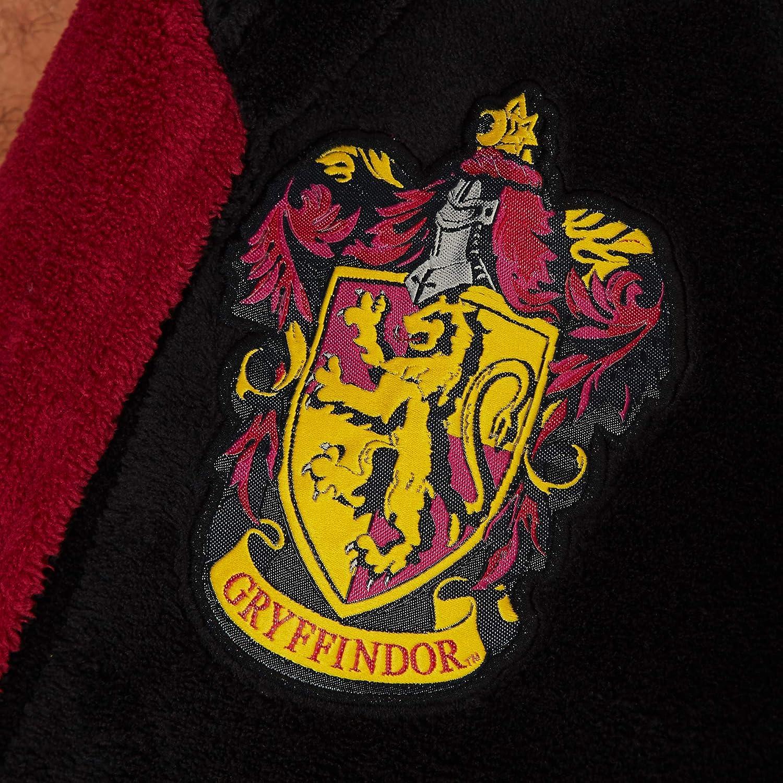 Poliestere Nero Groovy Bathrobe Gryffindor-Accappatoio con Cappuccio Harry Potter Uomo Taglia Unica