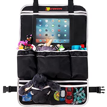 backseat car organizer for family by motorishy best toy storage bag for traveling with kids