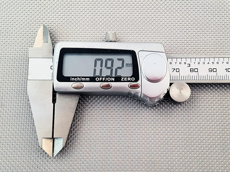 Inoxia Ltd - Grillage Mé tallique En Acier Inoxyable 304L, 20 Maille, Ouverture De 0,92mm, Taille: é chantillon simple Taille: échantillon simple