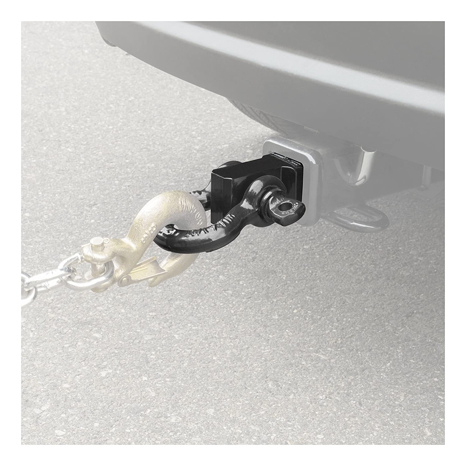 CURT 45832 D-Ring Shackle Mount Trailer Hitch 13,000 lbs. Fits 2-Inch Receiver